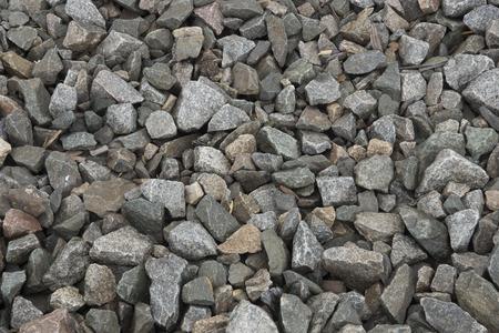 Coarse gravel along on a railroad grade. Banco de Imagens
