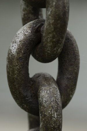 Large rusty anchor chain