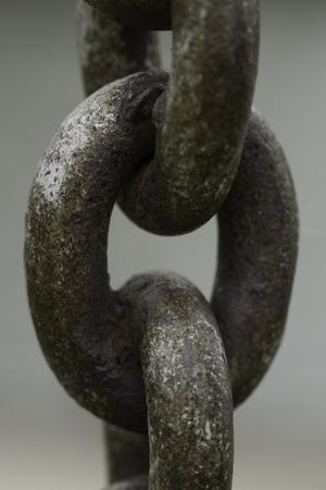 rusty chain: Large rusty anchor chain