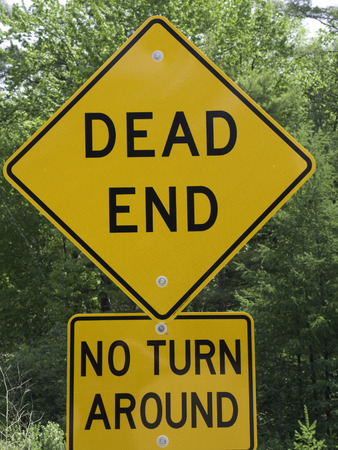 dead end: Road sign indicating a dead end street. Stock Photo