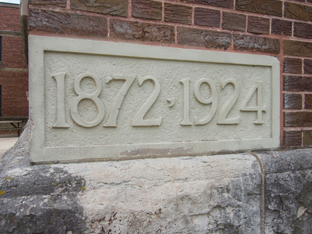 cornerstone: Cornerstone showing the age of a church 18721924