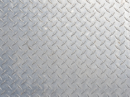 Diamond pattern in stainless steel plate Banco de Imagens
