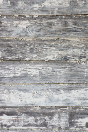peeling paint: Close up of old, weathered, wooden siding with just a small bit of peeling paint left on this barn.