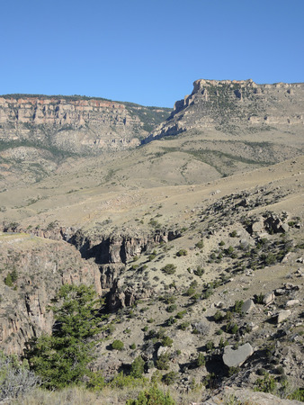 Canyon and gully in northern Wyoming Stock Photo