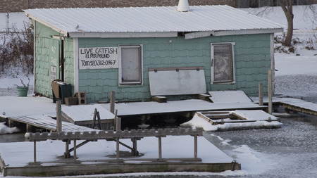 Cattfish for sale along the river.