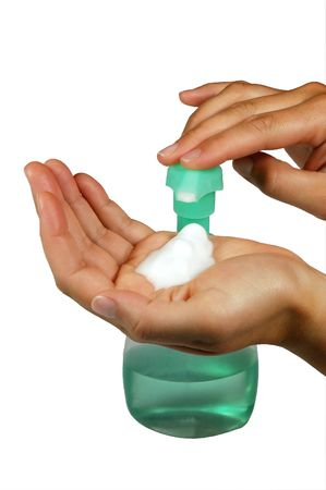 espumante: Jab�n de la mano que hace espuma para lavarse