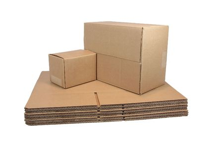 Flat and Sealed Shipping Cartons Stock Photo - 519351