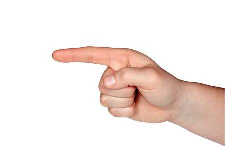 指を指してください。