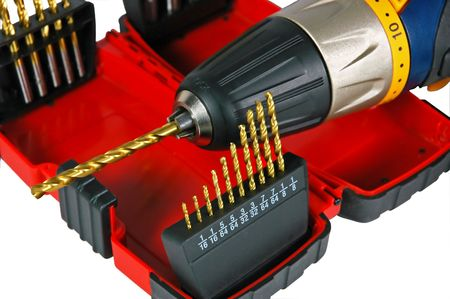power drill: Power drill with bits.