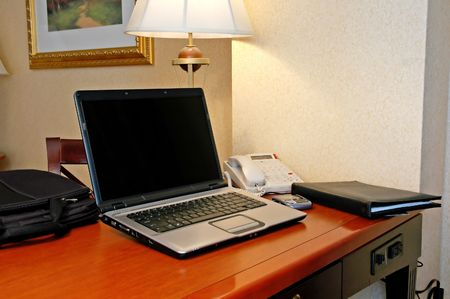 Hotel room work space