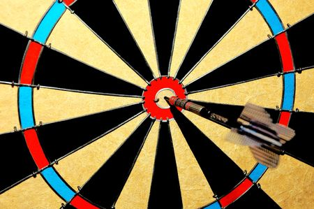 Dart Board with Bullseye