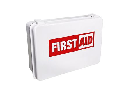 emt: First Aid Kit Stock Photo