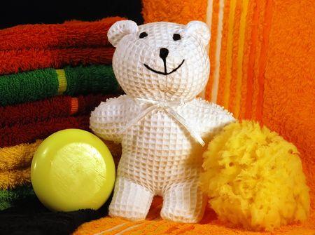 Teddy Bear Going Bathroom photo