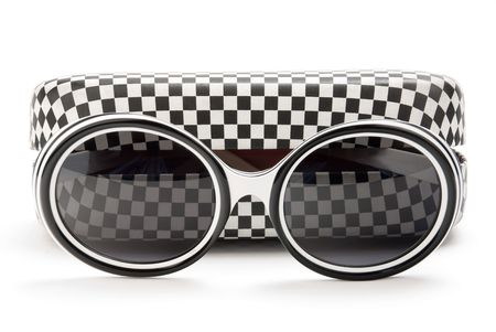 modern sunglasses and case Stock Photo - 5813765