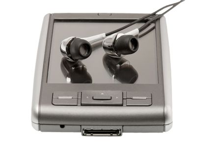 PDA with headphones photo