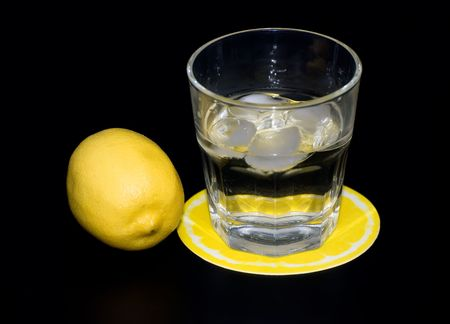 mineral water with ice and lemon Stock Photo - 6077044