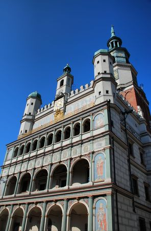 Market square. Old Town hall in Poznan,  Poland photo