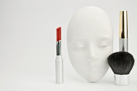 Colour yourself. White clay mask and make-up set photo