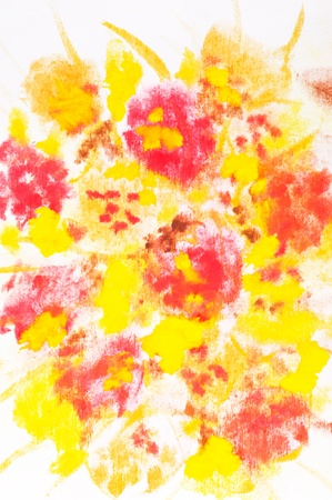Macro detail of grunge watercolor painted floral background photo
