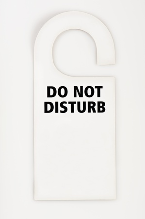 do not: Do not disturb label