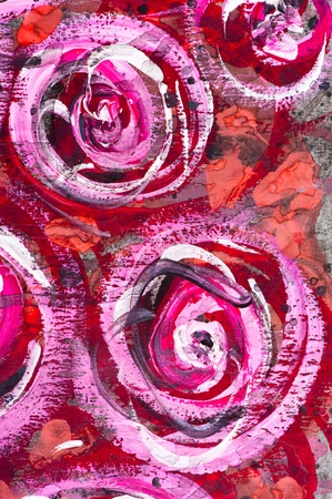painting brush: Macro detail of grunge watercolor painted floral background