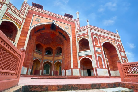 mausoleum: Humayun`s Tomb. India, Delhi, Uttar Pradesh. Mughal architecture of 1565-72 A.D.India, Delhi, Uttar Pradesh. Editorial