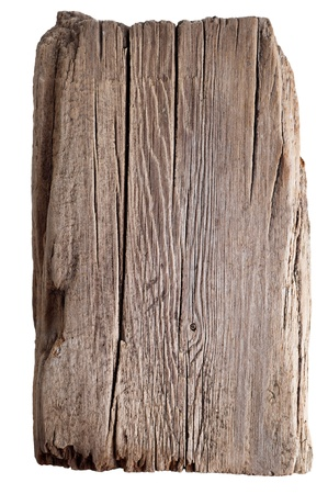 weathered: Wood texture. Old wooden board isolated on white background Stock Photo