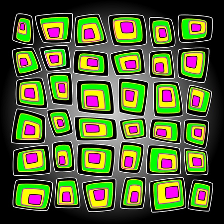Bright vector background with multicolored squares Vector