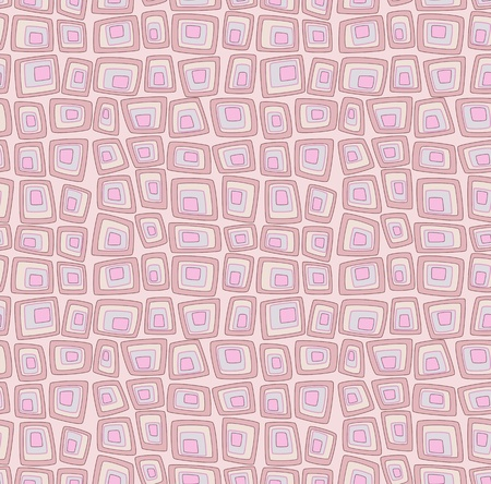 Pink seamless pattern with geometric squares pop art imitation Vector