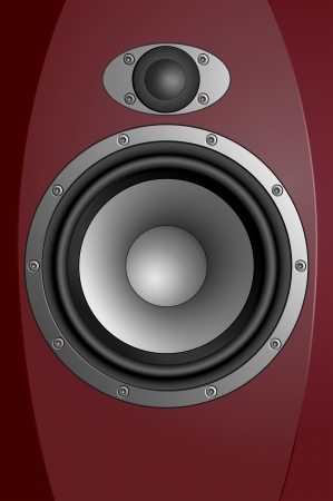 hi end: Acoustic sound systems  Realistic eps10 vector illustration of hi-fi speaker