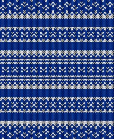 Brei textuur. Stof blauwe achtergrond met witte ornament. Naadloze vector patroon eps10