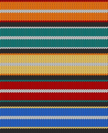 swatch: Knit texture. Fabric multicolor background. Seamless vector pattern