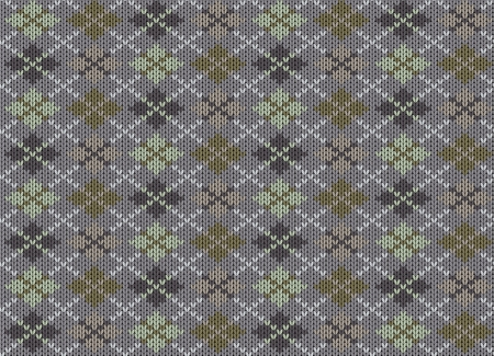 Knit texture. Fabric gray background with geometric ornament. Seamless vector pattern eps10 Vector