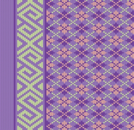 Knit texture for book cover or flayer design. Fabric background with ornament. Vector pattern eps10 Vector