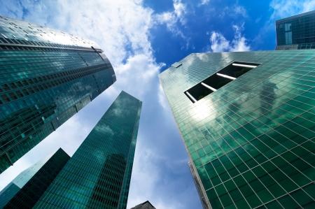 paesaggio industriale: Paesaggio urbano skyline di grattacieli moderni Archivio Fotografico