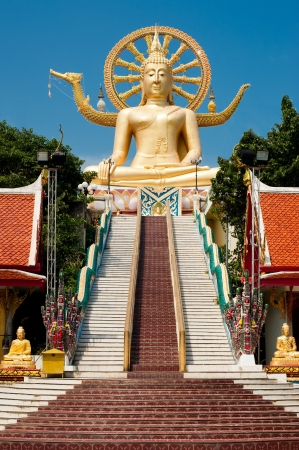 Big golden Buddha statue in Wat Phra Yai Temple. Koh Samui island, Thailand photo