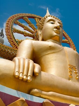 big buddha: Big golden Buddha statue in Wat Phra Yai Temple. Koh Samui island, Thailand