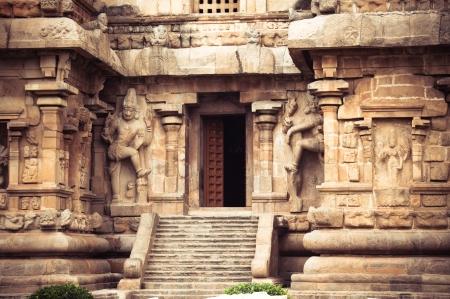 stone steps: Central entrance at Gangaikonda Cholapuram Temple. Dedicated to Shiva. South India, Tamil Nadu, Thanjavur (Trichy)