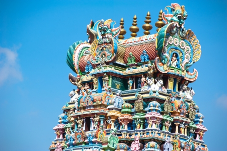hindu temple: Great South Indian architecture, Meenakshi Temple in Madurai. South India, Tamil Nadu, Madurai Stock Photo
