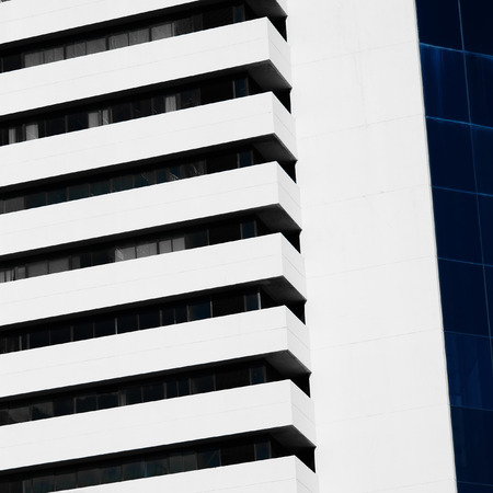 modern architecture: Abstract minimal style architecture background. Modern building facade detail