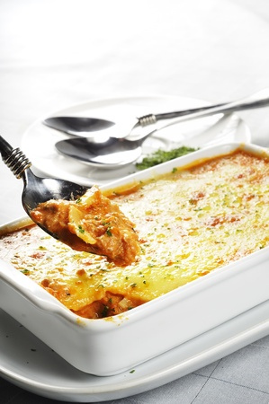 The moist Lasagne  with cheese taste.