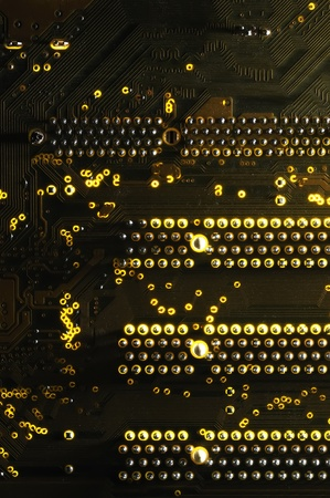 Integrated circuits on computer and can also represent abstract patterns, such as modern Stock Photo