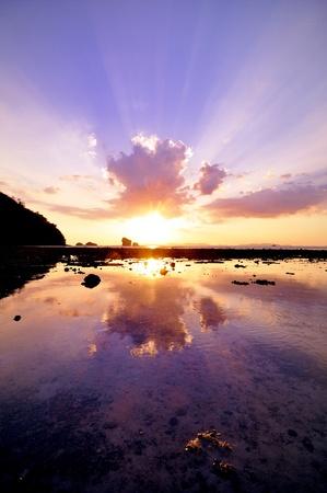 sunset over Krabi sea, Thailand