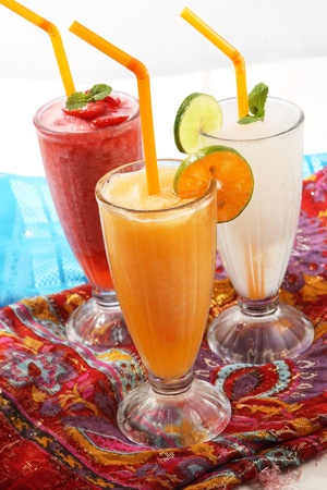 Summer drink with juice fruit Stock Photo