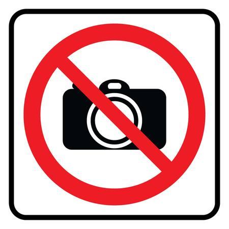 No Camera sign-Prohibition sign Illustration