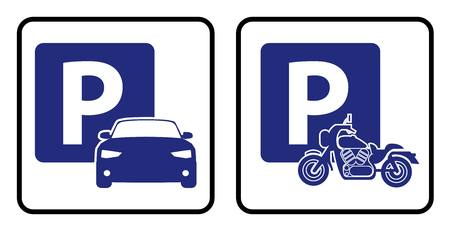 Car park icon and Bike park board