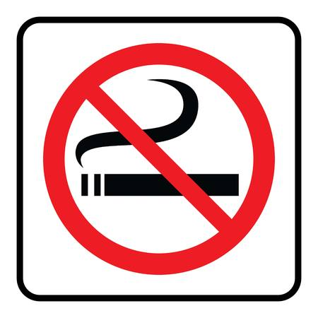 No Smoking Symbol.No Smoking Icon in white background drawing by illustration