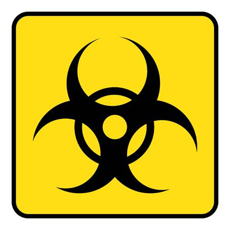 Biohazard symbol drawing by Illustration. Biohazard icon on yellow background drawing by Illustration