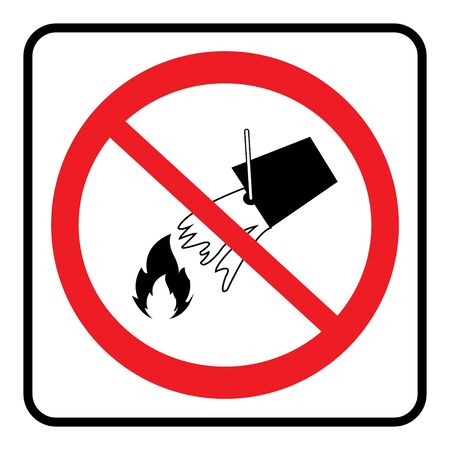 Do not extinguish with water.Do not extinguish with water sign on white background drawing by illustration