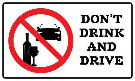 Don't drink and drive sign.Don't drink and drive symbol drawing